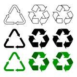 Ανακυκλώστε, επαναχρησιμοποιήστε, μειώστε το σύμβολο σημαδιών βελών στοκ εικόνες