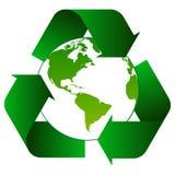 Ανακυκλώστε τα βέλη με το πράσινο λογότυπο σφαιρών διανυσματική απεικόνιση