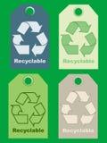 ανακυκλώστε τα σημάδια Στοκ Εικόνες