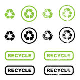 ανακυκλώστε τα σύμβολα Στοκ φωτογραφίες με δικαίωμα ελεύθερης χρήσης