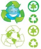 ανακυκλώστε τα σύμβολα Στοκ Εικόνα