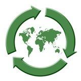 ανακυκλώστε τον κόσμο Στοκ φωτογραφία με δικαίωμα ελεύθερης χρήσης