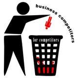 Ανακυκλώστε το δοχείο για τους ανταγωνιστές ελεύθερη απεικόνιση δικαιώματος