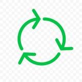 Ανακυκλώστε το εικονίδιο, πράσινος κύκλος βελών Διανυσματική βιο επαναχρησιμοποίηση απορριμάτων, ανακύκλωσης σημάδι eco ελεύθερη απεικόνιση δικαιώματος