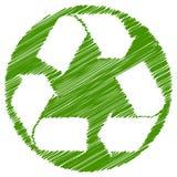 Ανακυκλώστε το πράσινο κτύπημα βουρτσών βελών απεικόνιση αποθεμάτων