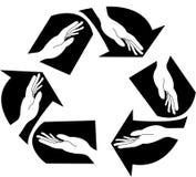 ανακυκλώστε το σημάδι Στοκ Φωτογραφία