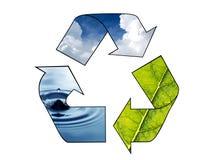 ανακυκλώστε το σύμβολο Στοκ Φωτογραφίες