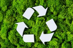 Ανακυκλώστε το σύμβολο eco Στοκ φωτογραφία με δικαίωμα ελεύθερης χρήσης