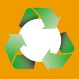 ανακυκλώστε το σύμβολ&omicron Στοκ Φωτογραφία