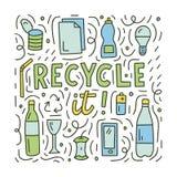 Ανακυκλώστε doodle την έννοια διανυσματική απεικόνιση