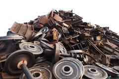 Ανακυκλωμένες ρόδες τραίνων Στοκ Φωτογραφίες