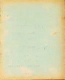 Ανακυκλωμένη σελίδα κάλυψης εγγράφου με τους λεκέδες και τα σκοτεινά σύνορα Στοκ Φωτογραφία