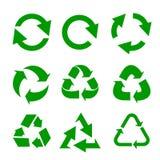 Ανακυκλωμένο σύνολο εικονιδίων eco διανυσματικό επίσης corel σύρετε το διάνυσμα απεικόνισης Στοκ εικόνα με δικαίωμα ελεύθερης χρήσης