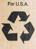 Ανακυκλώστε για τις ΗΠΑ Στοκ Φωτογραφίες