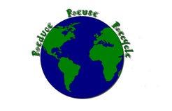 ανακυκλώστε μειώνει την επαναχρησιμοποίηση ελεύθερη απεικόνιση δικαιώματος