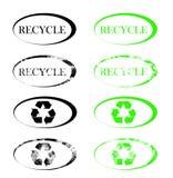 Ανακυκλώστε τα σύμβολα Στοκ εικόνες με δικαίωμα ελεύθερης χρήσης