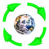 Ανακυκλώστε την καθαρή γη Στοκ φωτογραφίες με δικαίωμα ελεύθερης χρήσης