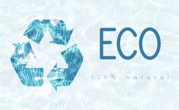 Ανακυκλώστε την περιβαλλοντική οικολογία φύσης συντήρησης Στοκ Εικόνες