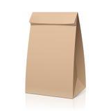 Ανακυκλώστε την τσάντα καφετιού εγγράφου Στοκ Φωτογραφίες