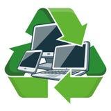 Ανακυκλώστε τις ηλεκτρονικές συσκευές ελεύθερη απεικόνιση δικαιώματος