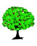 Ανακυκλώστε το δέντρο ελεύθερη απεικόνιση δικαιώματος