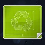 Ανακυκλώστε το εικονίδιο σχεδιαγραμμάτων συμβόλων Στοκ Φωτογραφία