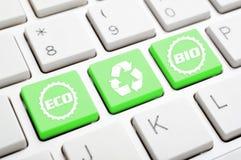 Ανακυκλώστε το κλειδί συμβόλων Στοκ Φωτογραφία
