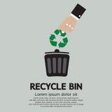 Ανακυκλώστε το δοχείο διανυσματική απεικόνιση
