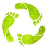 ανακύκλωσης σημάδι ίχνου&s Στοκ εικόνα με δικαίωμα ελεύθερης χρήσης