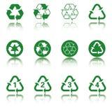 ανακύκλωσης σύνολο εικονιδίων Στοκ φωτογραφία με δικαίωμα ελεύθερης χρήσης