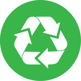ανακύκλωσης διάνυσμα εικονιδίων Στοκ Φωτογραφία