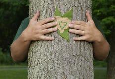 ανακύκλωση ανθρώπων eco συντήρησης Στοκ Εικόνες