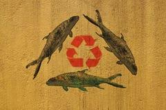 Ανακύκλωση για τα ψάρια. Στοκ Εικόνες
