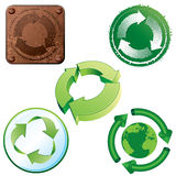 ανακύκλωση εικονιδίων Στοκ φωτογραφία με δικαίωμα ελεύθερης χρήσης