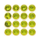 ανακύκλωση κουμπιών Στοκ εικόνες με δικαίωμα ελεύθερης χρήσης