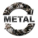 ανακύκλωση μετάλλων διανυσματική απεικόνιση