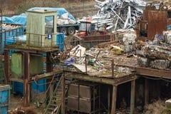 Ανακύκλωση σε μια βιομηχανική κλίμακα στοκ φωτογραφία
