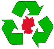 ανακύκλωση της Γερμανία&sigma Στοκ Φωτογραφία