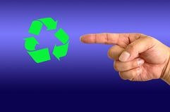 Ανακύκλωση του συμβόλου Στοκ φωτογραφίες με δικαίωμα ελεύθερης χρήσης