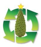 Ανακύκλωση χριστουγεννιάτικων δέντρων Στοκ Εικόνες