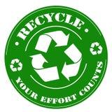 Ανακύκλωσης-γραμματόσημο Στοκ εικόνα με δικαίωμα ελεύθερης χρήσης
