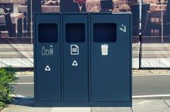 ανακύκλωσης σύμβολα ανακύκλωσης δοχείων Στοκ φωτογραφία με δικαίωμα ελεύθερης χρήσης