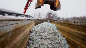 Ανακύκλωση θραυσμάτων γυαλιού απόθεμα βίντεο