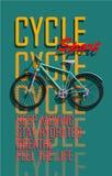 Ανακύκλωση, ποδήλατο, αφίσα ποδηλάτων διασκέδασης Στοκ φωτογραφίες με δικαίωμα ελεύθερης χρήσης