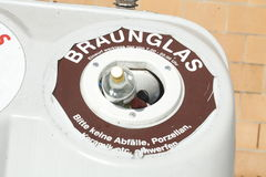 Ανακύκλωση των δοχείων για τα glas Στοκ εικόνες με δικαίωμα ελεύθερης χρήσης