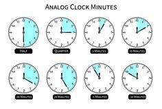 Αναλογικό ρολόι με τη μορφή κύκλων Στοκ φωτογραφία με δικαίωμα ελεύθερης χρήσης