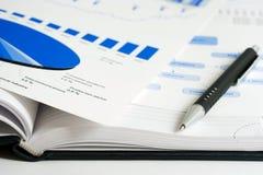αναλύοντας τα στοιχεία οικονομικά Στοκ Φωτογραφία