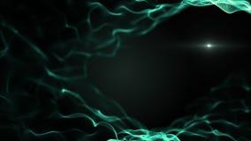 Αναμειγμένο περίληψη υπόβαθρο μορφής Πράσινα κύματα στο μαύρο σκηνικό Κλείστε επάνω τη δομή DNA Το φως θόλωσε το άσπρο blick είνα στοκ φωτογραφία με δικαίωμα ελεύθερης χρήσης