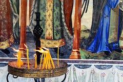 Αναμμένα κεριά Α Στοκ Εικόνες