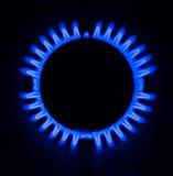 Αναμμένος καυστήρας αερίου Στοκ φωτογραφία με δικαίωμα ελεύθερης χρήσης